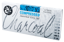 JAKAR GREYS COMPRESSED CHARCOAL SET