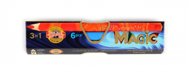 KOH-I-NOOR 6 SET JUMBO MAGIC TRIANGULAR PENCILS 3408 6