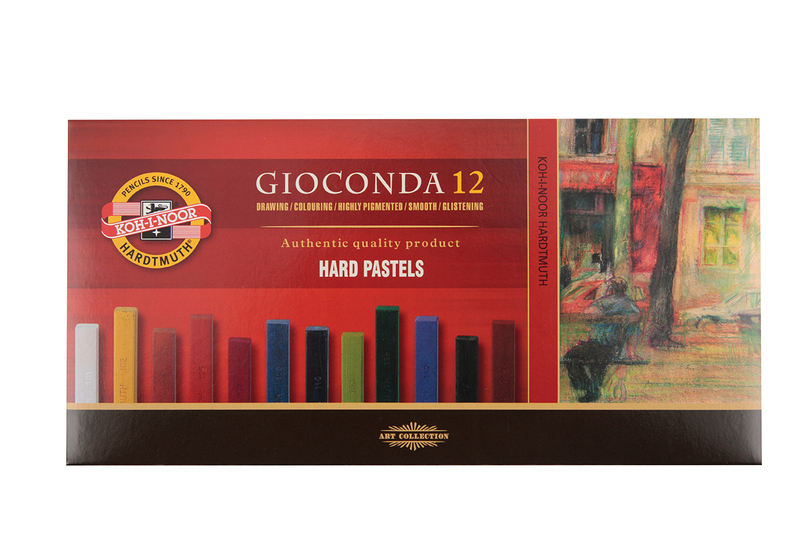KOH-I-NOOR GIOCONDA 12 CARRES OIL/CHALK PASTELS SET OF 12