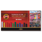 KOH-I-NOOR TOISON D'OR 12 SOFT PASTELS - SET OF 12