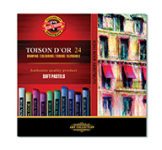 KOH-I-NOOR TOISON D'OR 24 SOFT PASTELS - SET OF 24