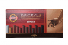 KOH-I-NOOR TOISON D'OR SEPIA SOFT PASTELS-SET OF 12