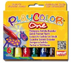 PLAYCOLOR ONE STANDARD SET 6 10gm COLOUR STICKS PC10711