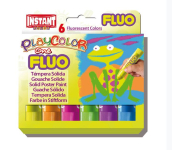 PLAYCOLOR ONE FLUO SET 6 10gm COLOUR STICKS PC10431