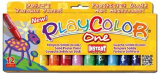 PLAYCOLOR ONE STANDARD SET 12 10gm COLOUR STICKS PC10731