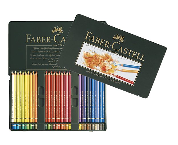 FABER CASTELL POLYCHROMOS 60 TIN ARTISTS PENCILS FC110060