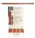 WOLFF CARBON PENCIL CARD OF 4 ASST
