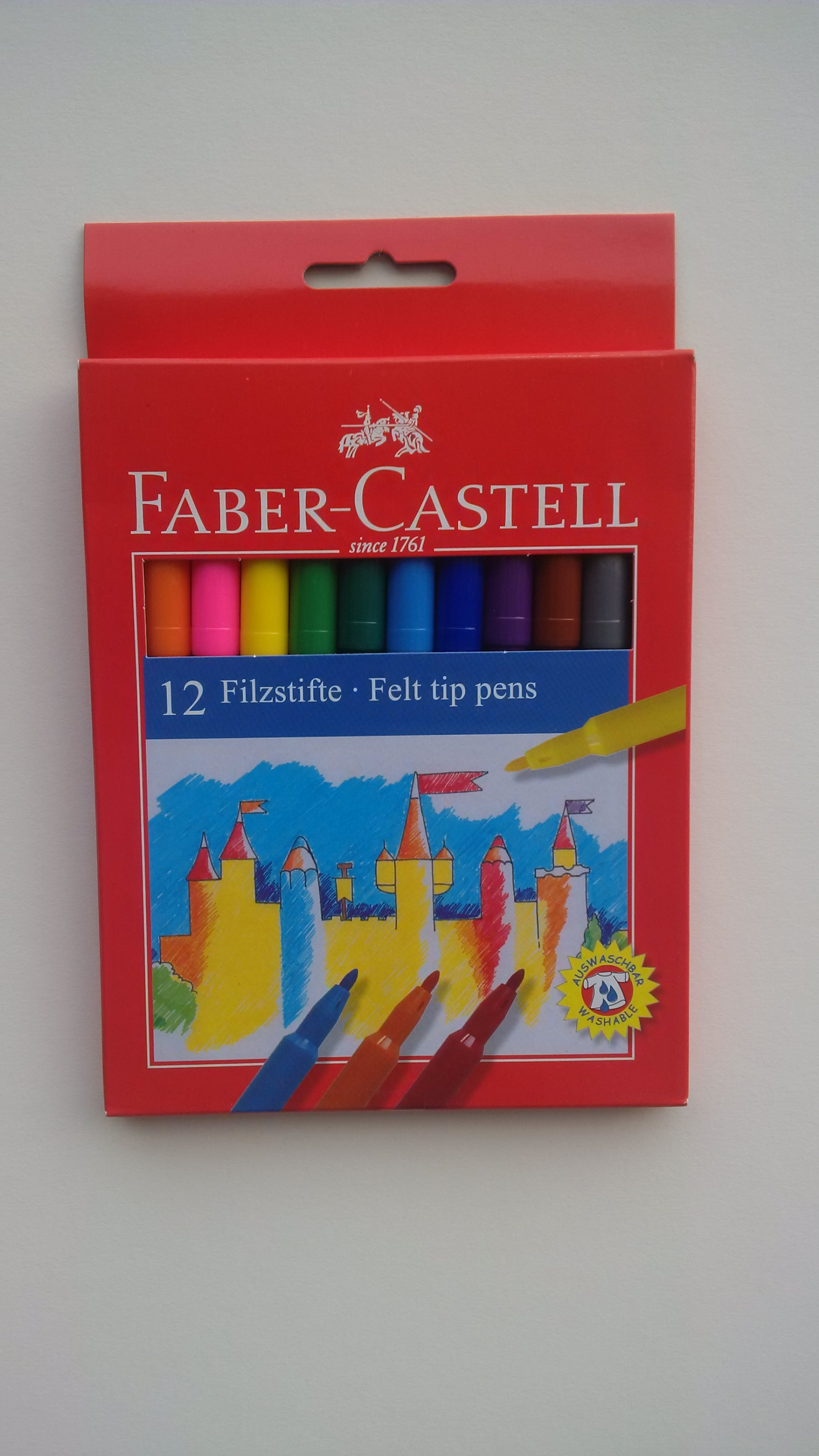FABER CASTELL 12 FIBRE TIPPED PENS 554212 (155110)