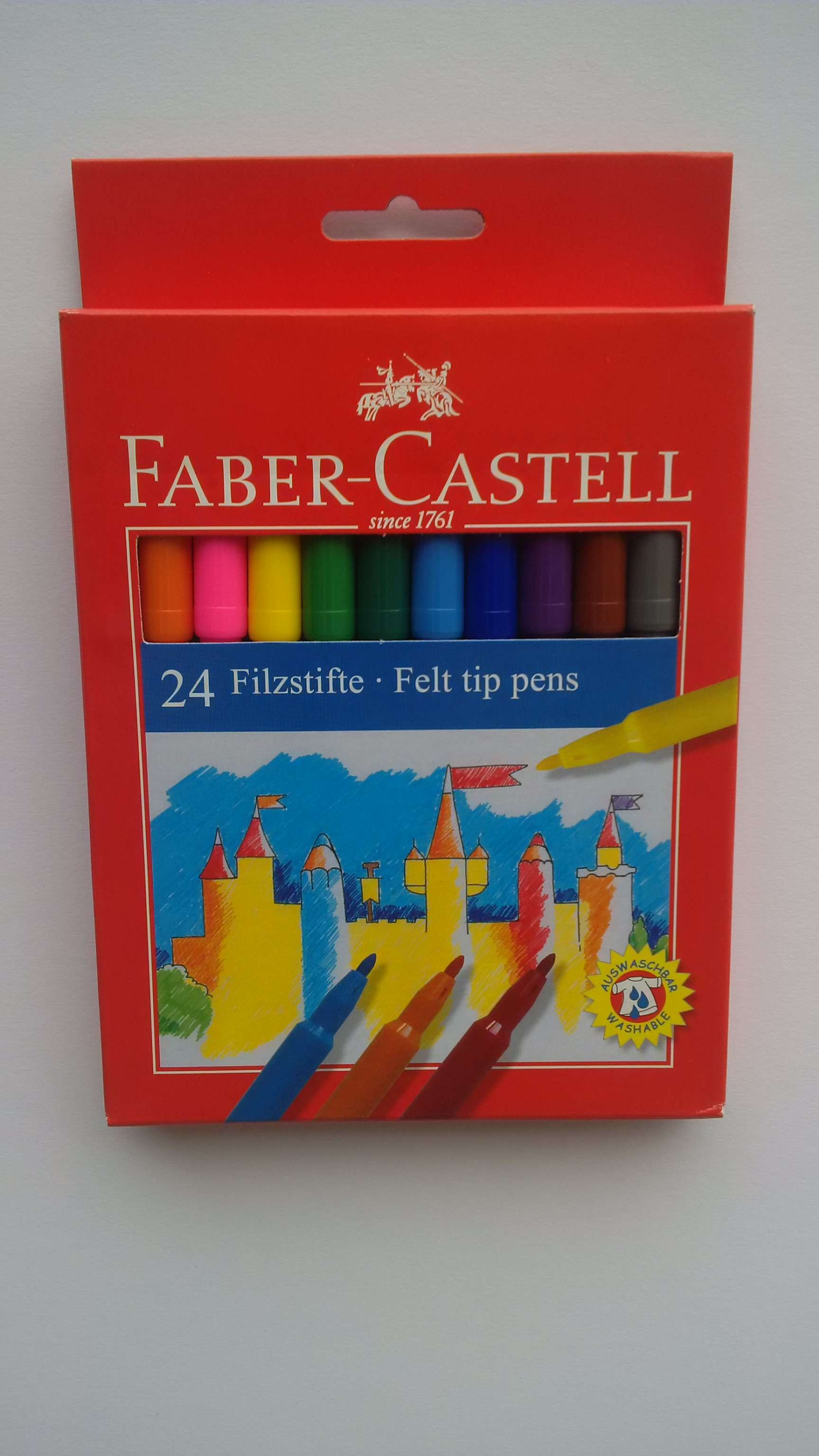 FABER CASTELL 24 FIBRE TIPPED PENS 554224 (155120)