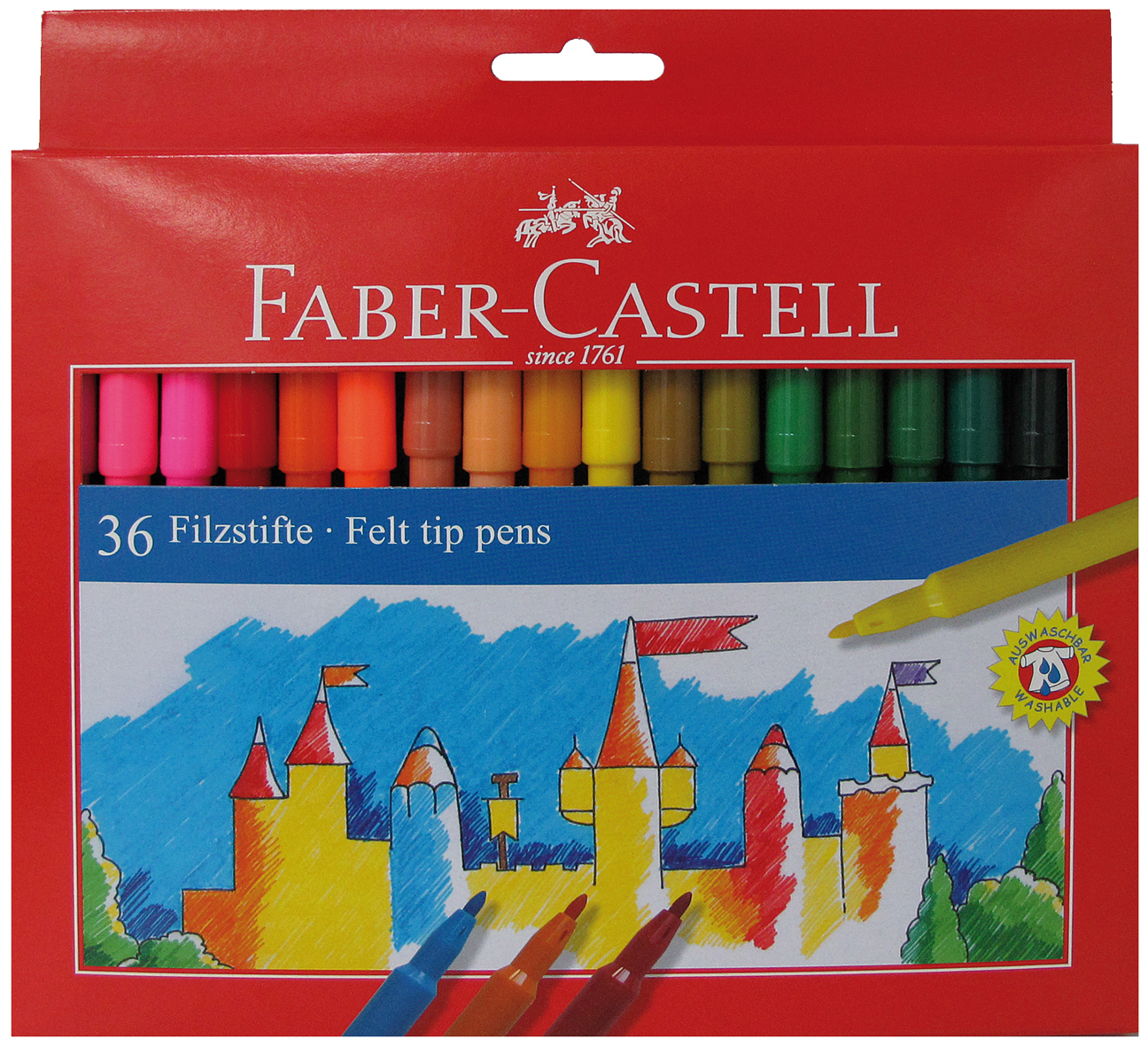 FABER CASTELL 36 FIBRE TIPPED PENS 554236