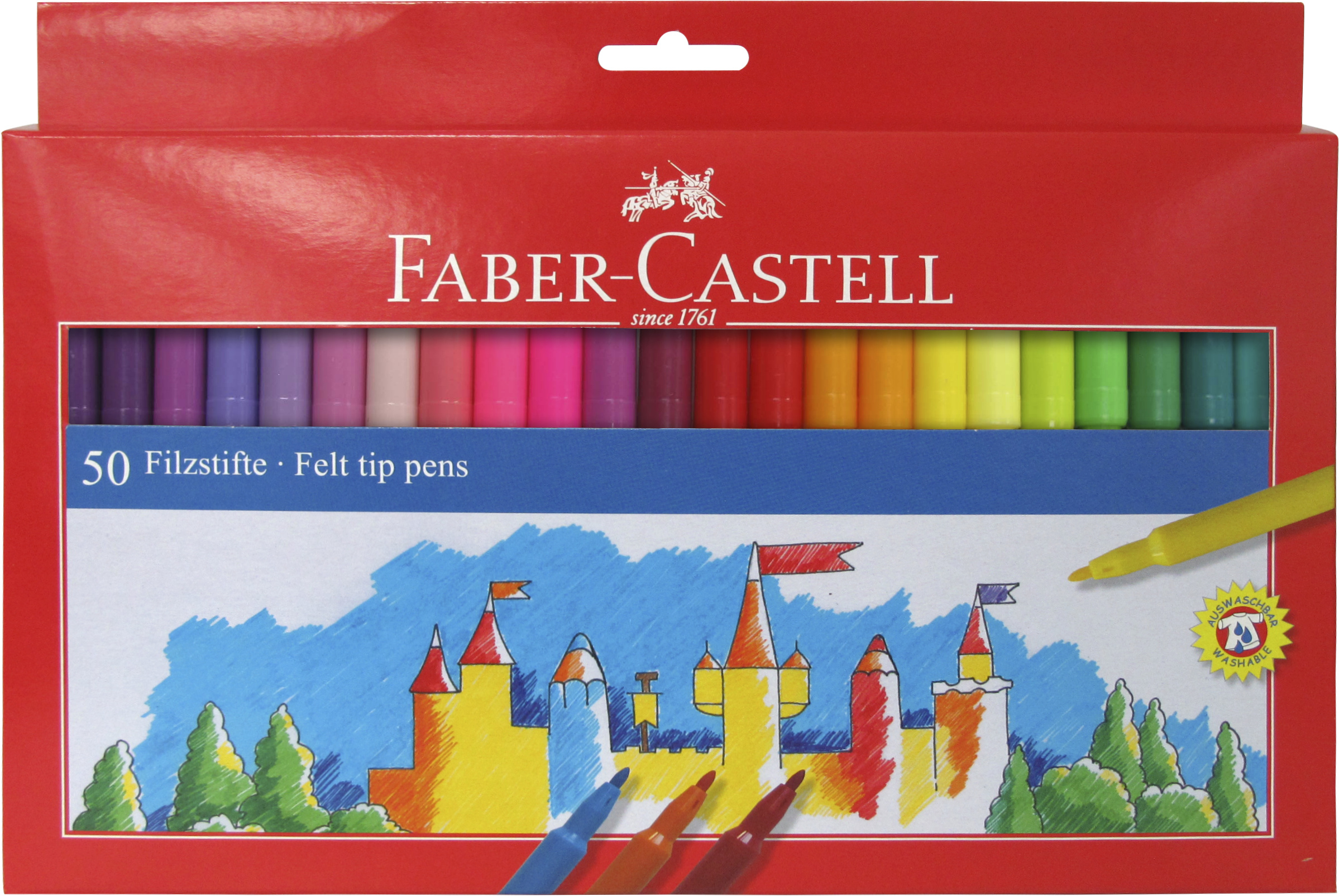 FABER CASTELL 50 FIBRE TIPPED PENS 554250