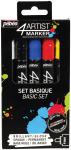 4ARTIST MARKER SET BASIC 5 x 4mm BY PEBEO 580891