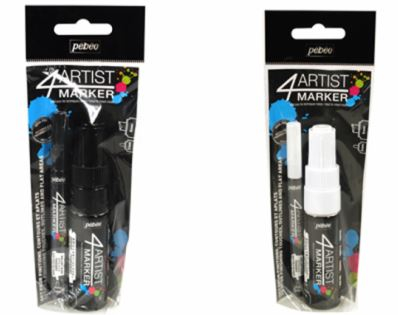 4ARTIST MARKER WHITE 2mm & 8mm SET BY PEBEO 580894