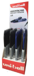 UNI AIR PEN 24 COUNTER DISPLAY 12 EACH BLACK & BLUE 153544476