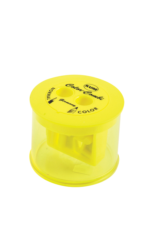 KUM COLOR COMBI SHARPENER WITH CONTAINER                  TUB