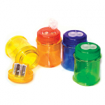 MAXI TWO HOLE PENCIL SHARPENER WITH CONTAINER             TUB