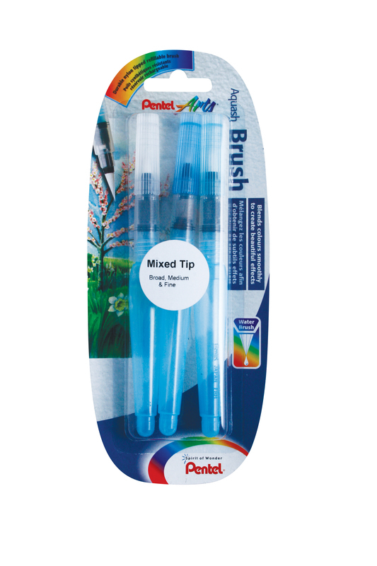 PENTEL AQUASH BLISTER CARD OF 3 XFRH/3-BMF